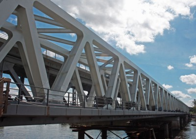 Rail bridge in Modlin